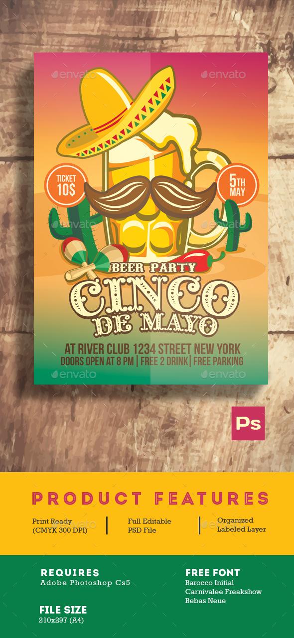 Cinco De Mayo Beer Party - Events Flyers