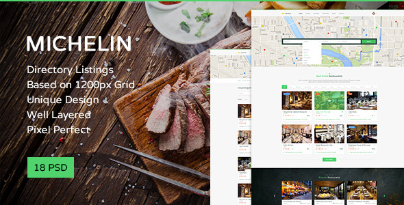 Michelin — Multipurpose Directory Listing PSD Template - Retail PSD Templates