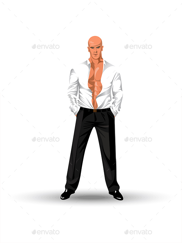 Man in a Shirt - People Characters