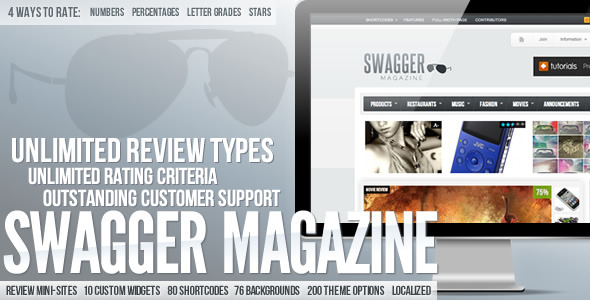 Free Download SwagMag - WordPress Magazine/Review Theme Nulled Latest Version