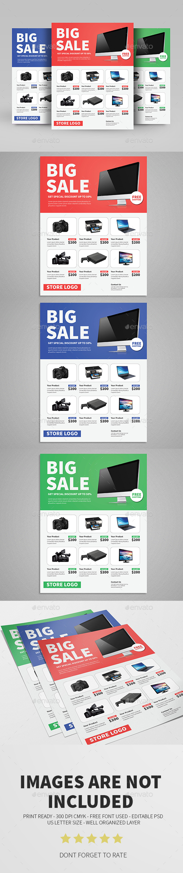 Clean Sale Flyer Template - Commerce Flyers