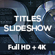 Titles Slideshow - VideoHive Item for Sale