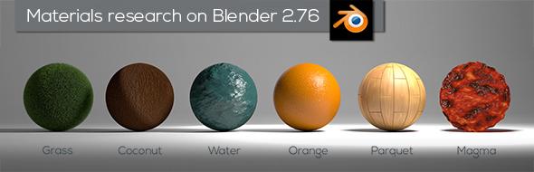 Nodes Materials Blender - 3DOcean Item for Sale