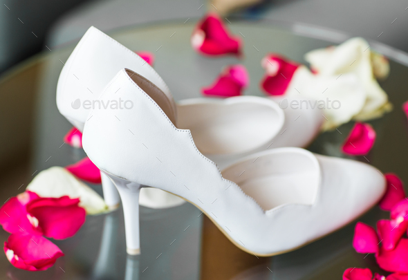 Elegant white shoes - Stock Photo - Images