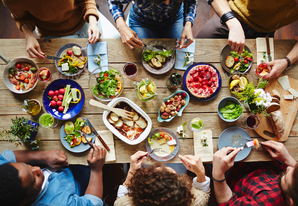 Friends dining - Stock Photo - Images