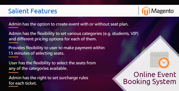 MageBooking - Online Event Booking System - CodeCanyon Item for Sale