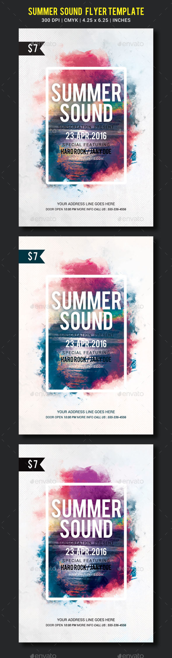 Summer Sound Party Flyer Template - Clubs & Parties Events