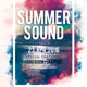 Summer Sound Party Flyer Template - GraphicRiver Item for Sale