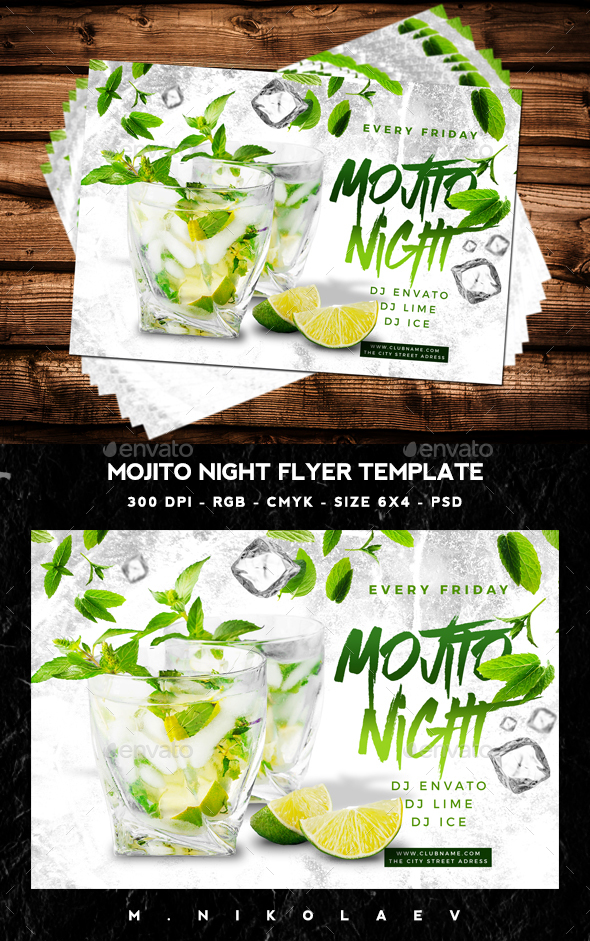 Mojito Night Flyer V4 - Clubs & Parties Events