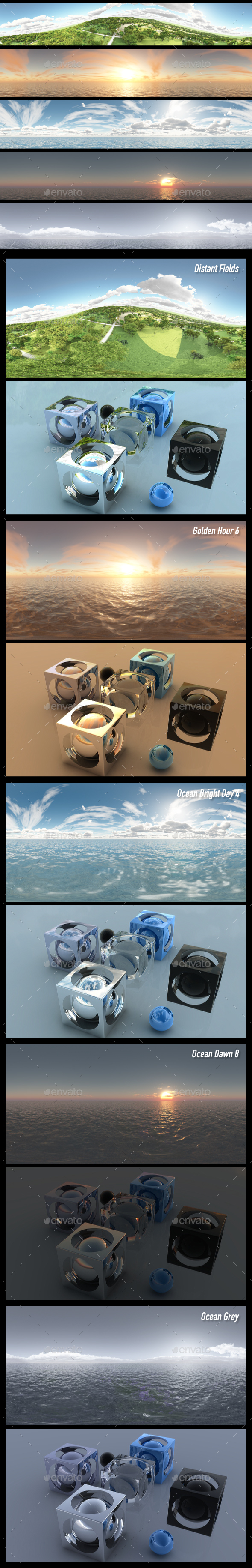 HDRI Pack 60 - 3DOcean Item for Sale