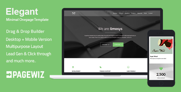 Elegant - Minimal Pagewiz Template - Pagewiz Marketing