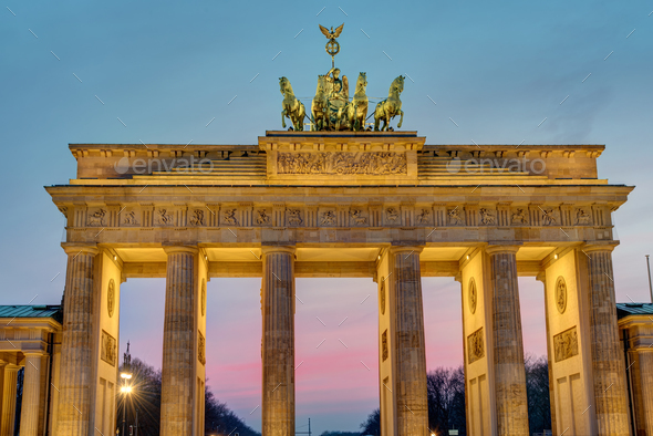 Dawn at the Brandenburger Tor - Stock Photo - Images