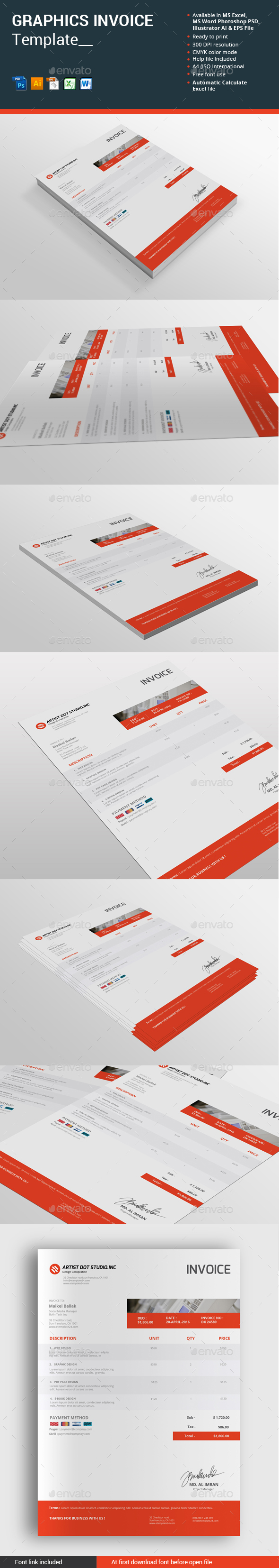 Graphics Invoice Template - Proposals & Invoices Stationery