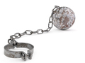 Rusty Ball and Chain - PhotoDune Item for Sale