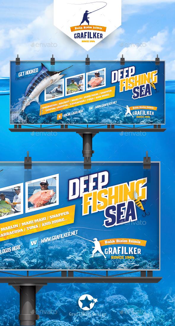 Fishing Billboard Templates - Signage Print Templates
