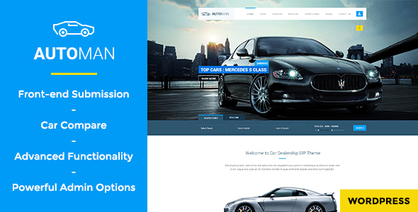 Automan - Advanced Car Dealer WordPress Theme