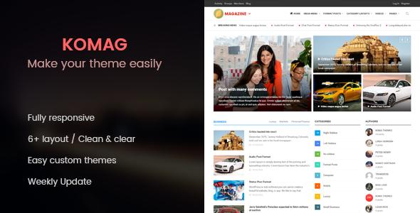 Komag – Powerful Magazine/News WordPress Theme