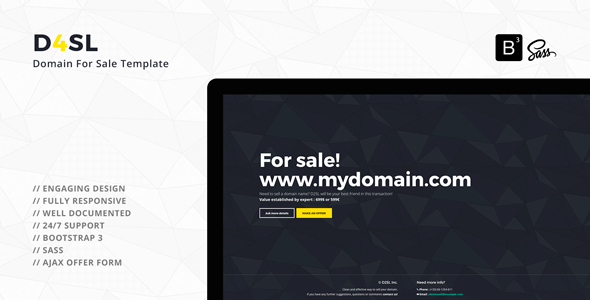 D4SL – Domain For Sale Template