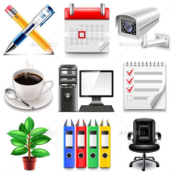 Office Icons Set - Concepts Business