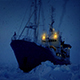 Man On Ice Breaker Ship In Snowstorm - VideoHive Item for Sale