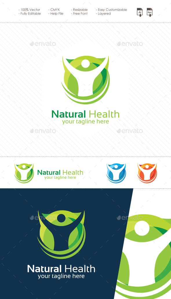 Natural Health Logo - Nature Logo Templates