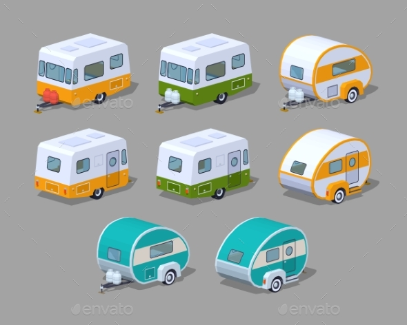 Collection of Motorhomes - Man-made Objects Objects