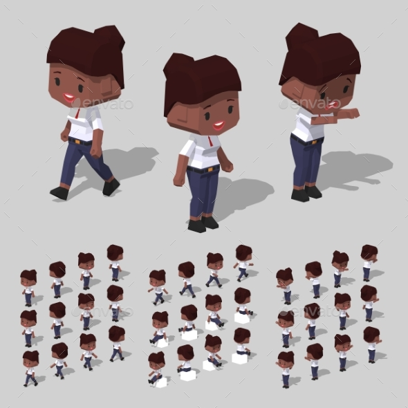 Low Poly Businesswoman - People Characters