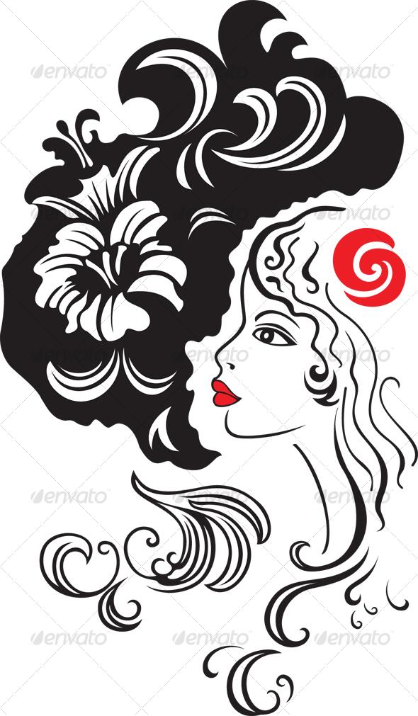 Pretty girl - People Illustrations