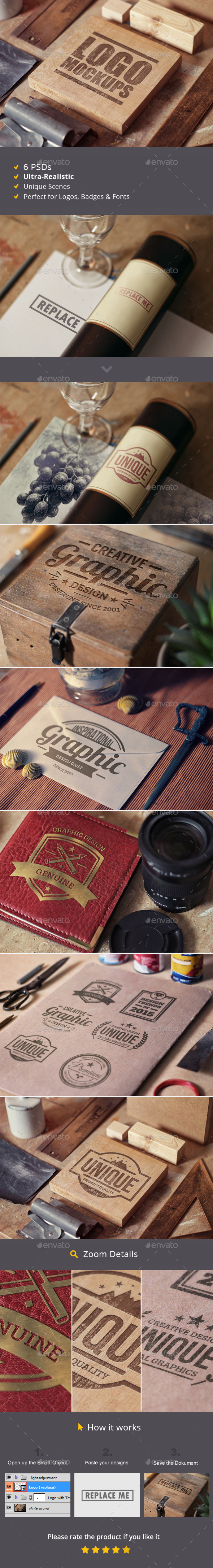 Perspective Logo Mockups - Logo Product Mock-Ups