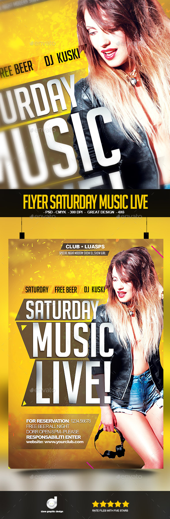 Flyer Saturday Music Live - Clubs & Parties Events