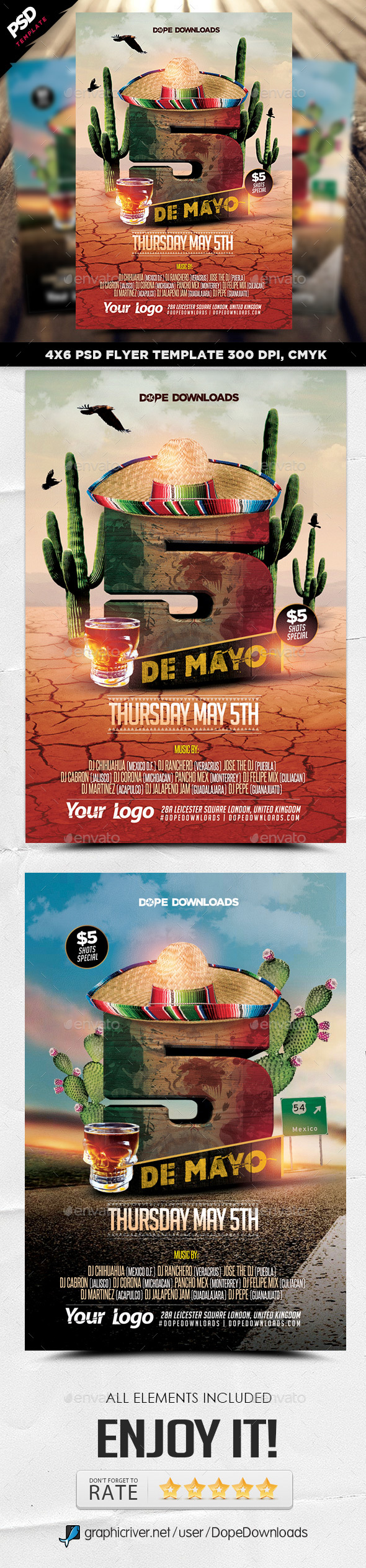 5 De Mayo 2016 Party Template - Events Flyers