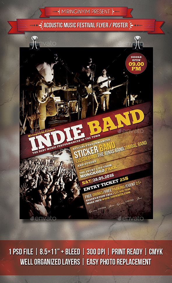 Indie Band Flyer / Poster by miringinyim | GraphicRiver