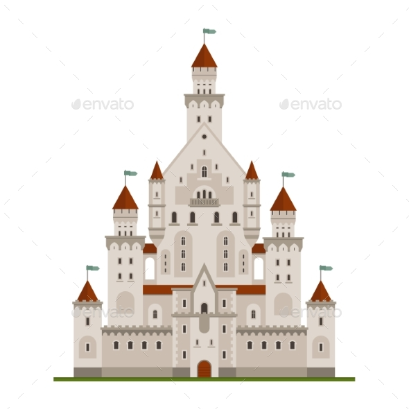 Medieval Fairytale Castle or Palace  - Buildings Objects