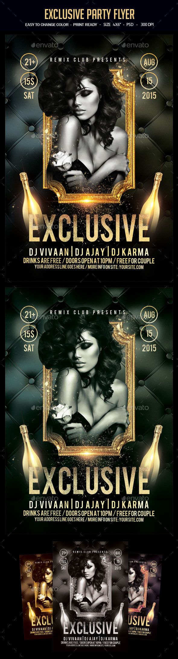 Exclusive Party Flyer - Clubs & Parties Events