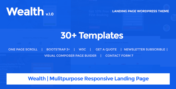 Wealth – Multi-Purpose Landing Page WordPress Theme - Marketing Corporate
