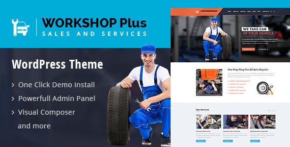 WorkshopPlus - WorkShop Car Services WordPress Theme - WordPress