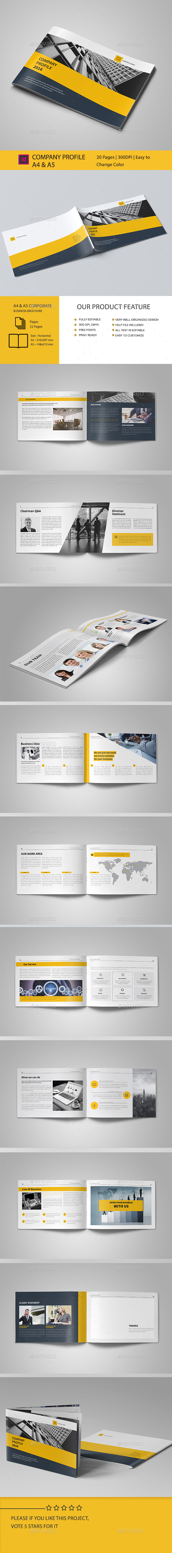 Corporate Business Brochure 20 Pages A5 & A4 - Corporate Brochures
