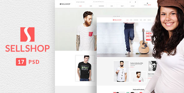 SellShop - eCOMMERCE PSD Template - Fashion Retail