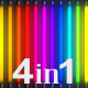 Colorful Neon Light Flashing (4-Pack) - VideoHive Item for Sale