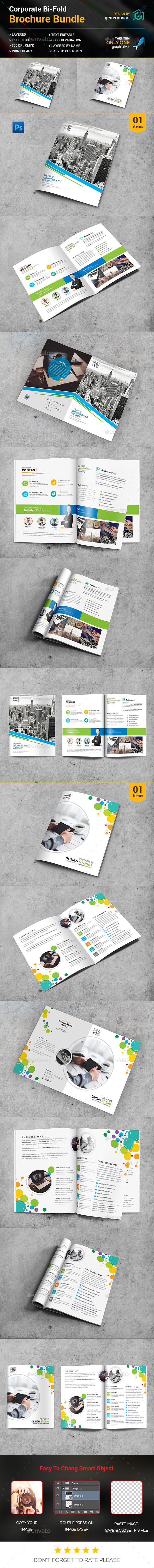 Bi-fold Brochure Bundle_2 in 1 - Brochures Print Templates