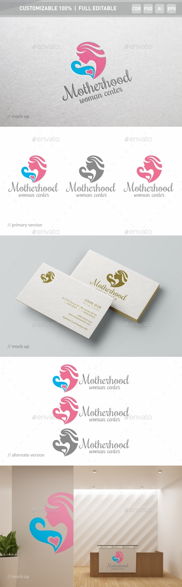 Motherhood Logo Template - Objects Logo Templates