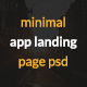 Minimal App Landing Page - ThemeForest Item for Sale