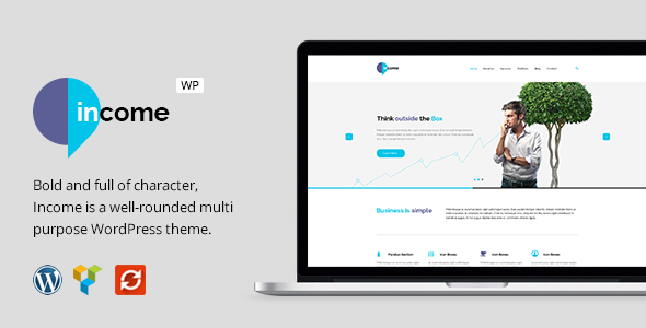 Income – Responsive Business WordPress Theme