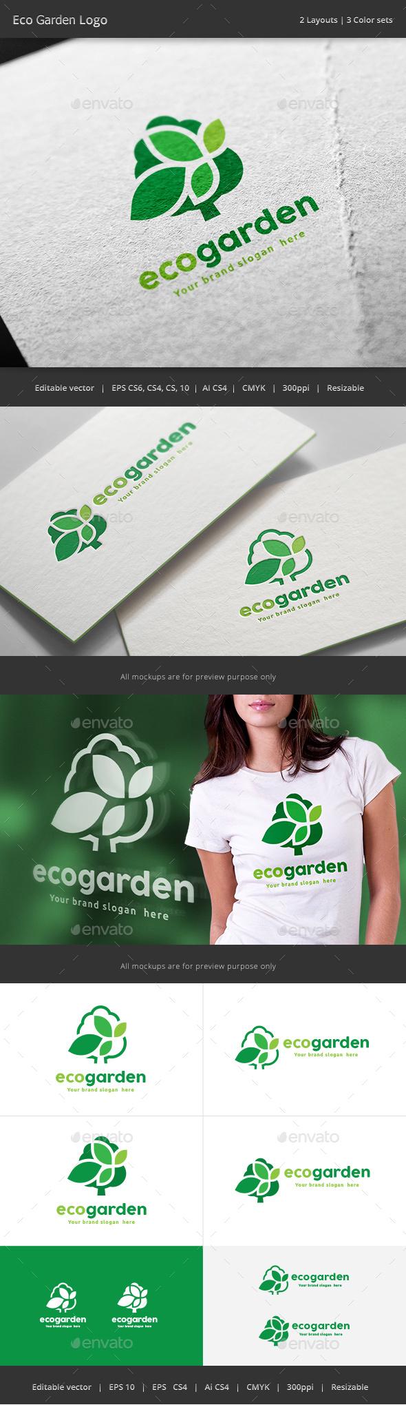 Eco Garden Tree logo - Nature Logo Templates