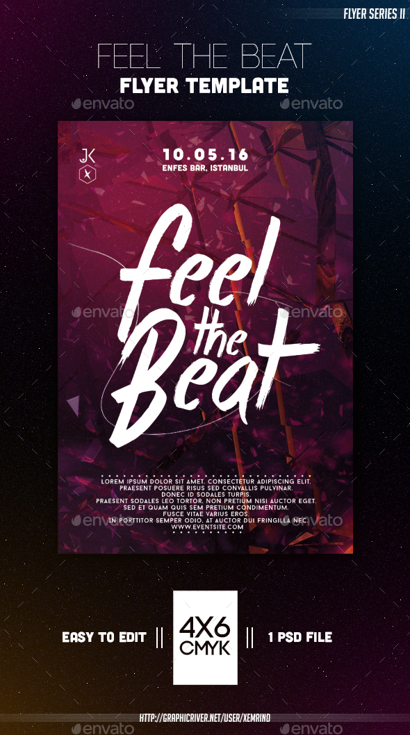 Feel the Beat Flyer Template - Clubs & Parties Events