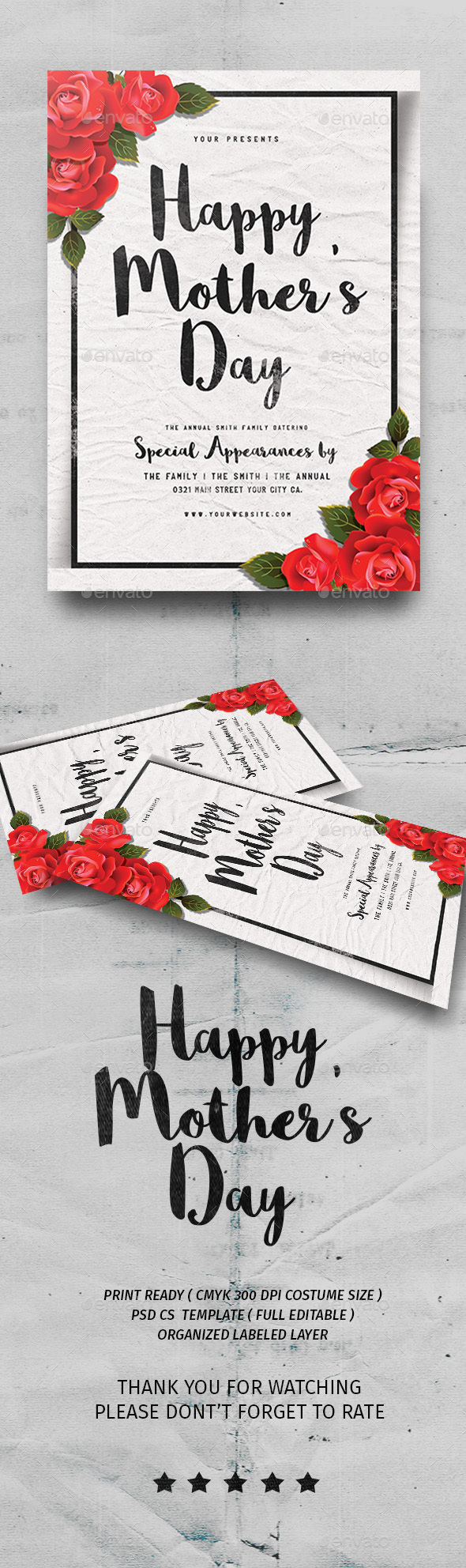Happy Mother's Day - Events Flyers