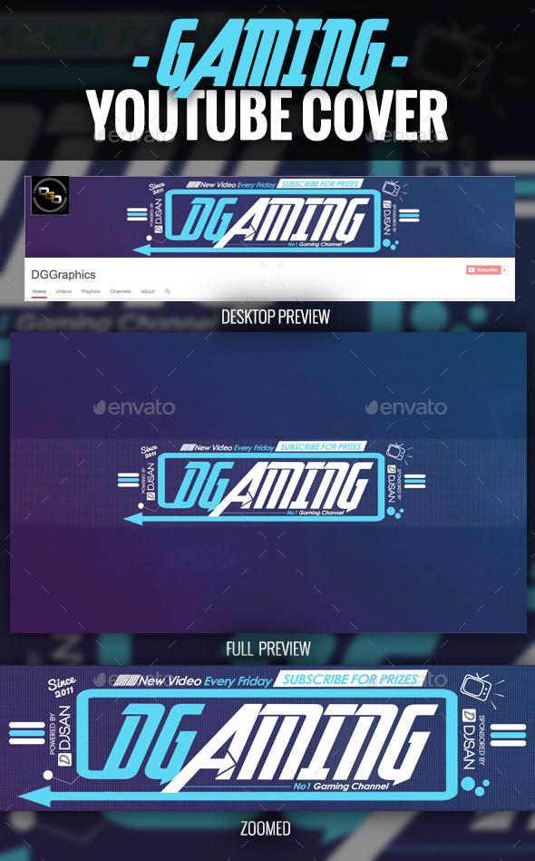 Gaming YouTube Cover - YouTube Social Media