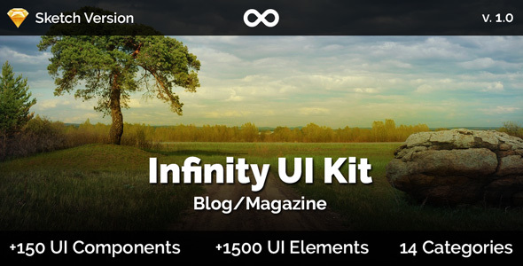 Infinity UI Kit - Blog/Magazine - Sketch - Sketch Templates
