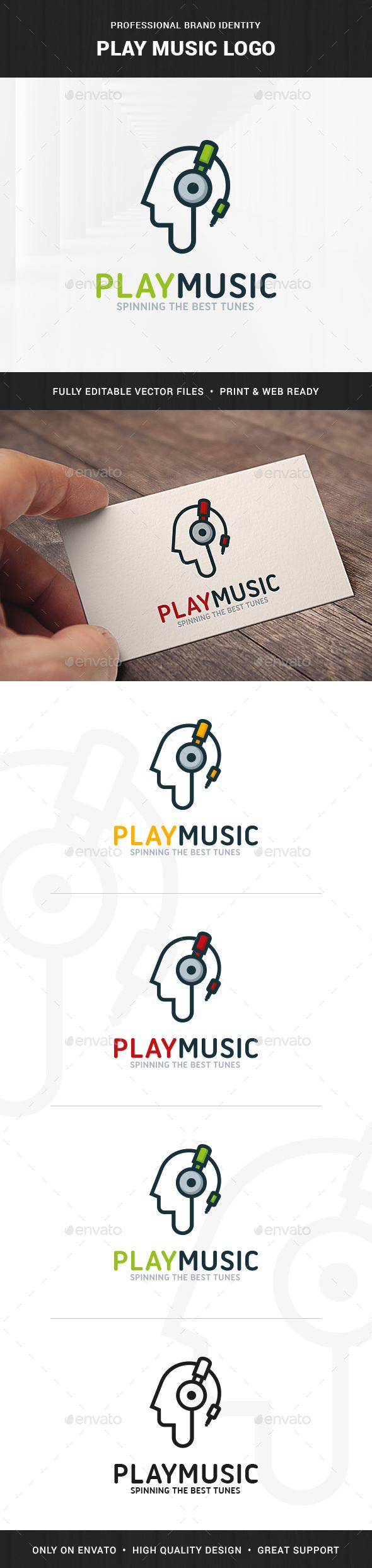 Play Music Logo Template - Humans Logo Templates