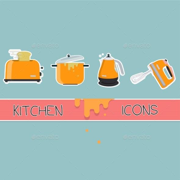 Kitchen Icons Set - Icons